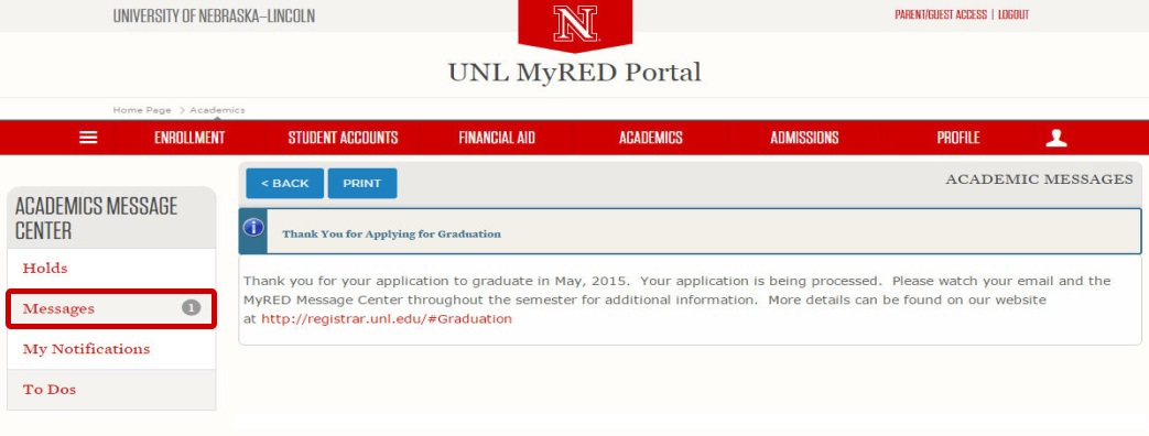Online Graduation Application Office Of The University