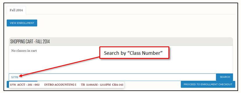 Search by class number